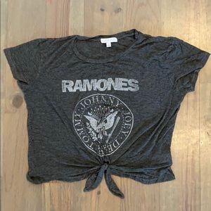 DAYDREAMER Ramones Tie front T-shirt S